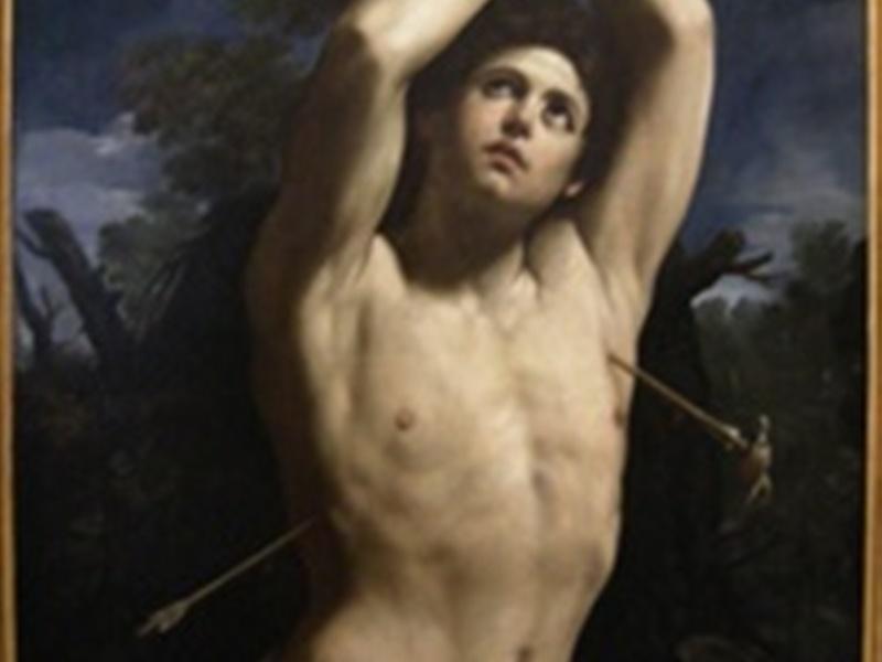 Particolare del quadro: San Sebastiano di Guido Reni