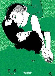 due persone abbracciate sull'erba