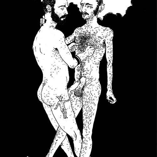 uomini nudi che si toccano