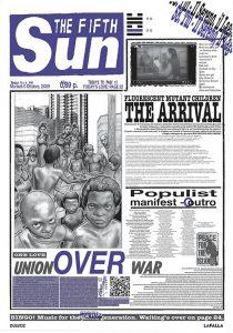 prima pagina di quotidiano con persone nere